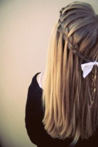 A cascade waterfall braid is a gorgeous look that can work for any occasion 2