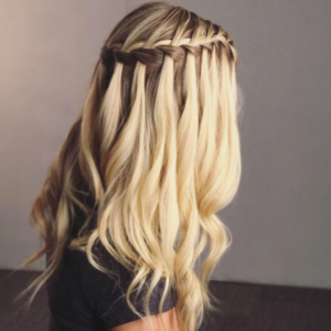A cascade waterfall braid is a gorgeous look that can work for any occasion