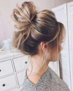 Buns are also a great option for you to tie your hair