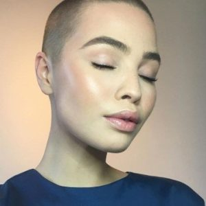 Female buzz cut