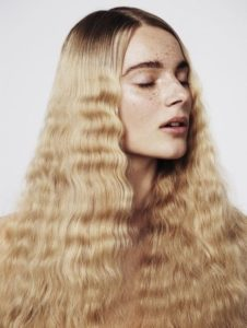 Finally brush out and shape your waves