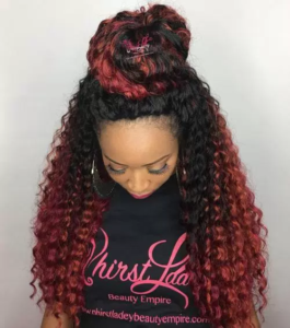 Hairstyle #2 Half Up Bun