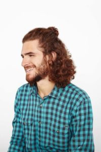 Hairstyle #2 Half-up man bun
