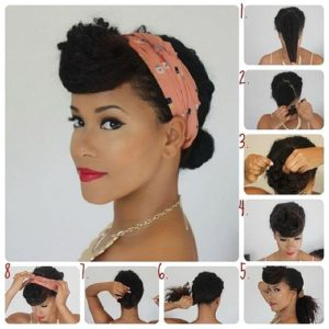 Hairstyle #2 Pin-up bun