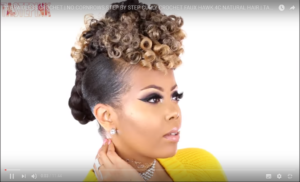 Hairstyle #3 Curly Crochet Faux Hawk