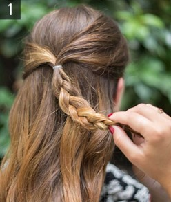 Hairstyle #3 Flower braid 1