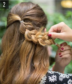 Hairstyle #3 Flower braid 2