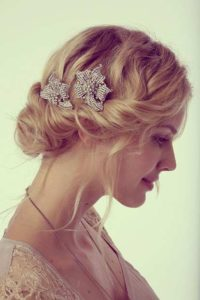 Hairstyle #3 Lovely updo with hair pieces