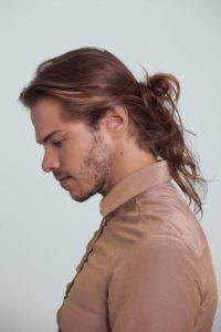 Hairstyle #3 Messy man bun