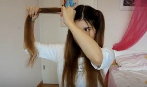 Half Twin Tails Hairstyle 6