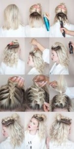 Here is how to make the braided half up