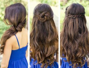 Long-length hairstyles for girls