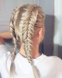 Medium length braids
