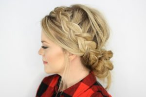 Messy Updo and Braids