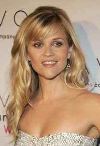 Reese Witherspoon heart shaped face bangs