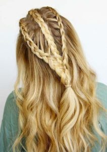Simple but fantastic braid that would make you look precious