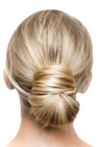 Stylized Low Bun Hairstyle