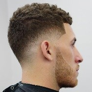 This hairstyle can provide gentlemen simple