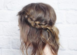 Try with a crown made out of braids