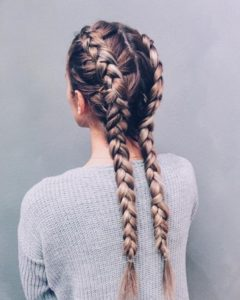 Two braids or double dutch braids are a great option for you 2