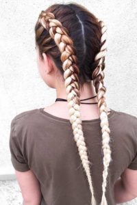 Two braids or double dutch braids are a great option for you
