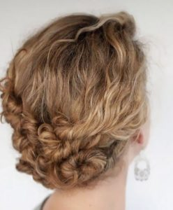 Updo hairstyles for curly hair 3