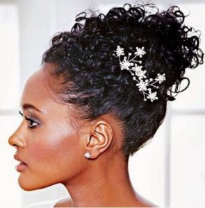 Updo hairstyles for dark skinned women with thick hair