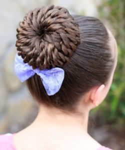 Updo hairstyles for little girls