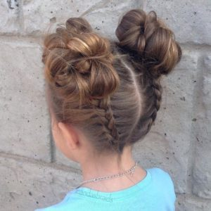 Updo hairstyles for little girls 3