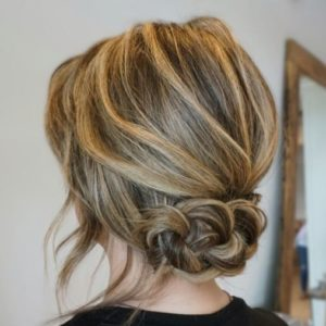 Updo hairstyles for medium length hair 5
