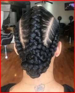 You can even tie the ends of the braids onto a bun if you don't really like the way it looks when they are loose