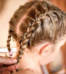 a braid-adding hair-procedure