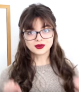 cute hairstyle with bangs and glasses