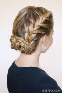 low Bun and Side Braids Hairstyle!