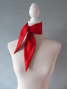 polka dotted scarf