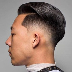 slicked back asian hairstyle
