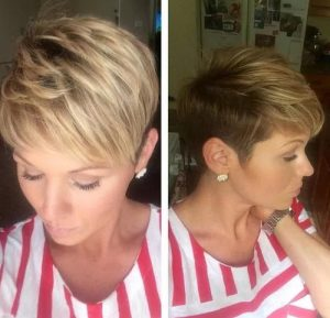 #1 Feathered Pixie with Balayage Highlights