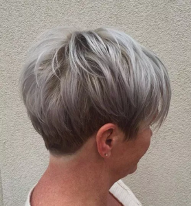 #2 Gray Blonde Pixie