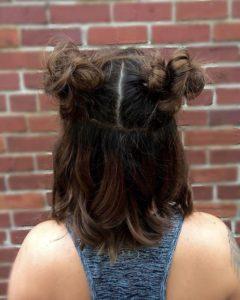 2 Half ponytails