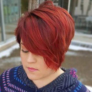 #4 Crimson Pixie Cut