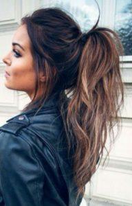 Basic messy ponytail