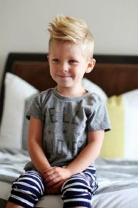 Blonde hairstyles for little boys
