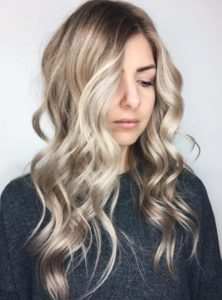 Blonde hairstyles with lowlights