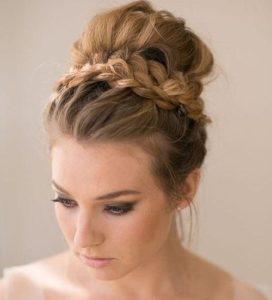 Bun with braids