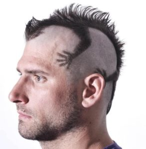 Crazy Hairstyles for men lizard