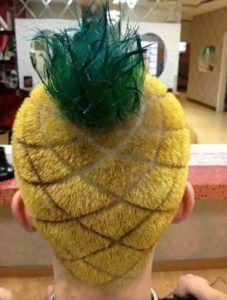 Crazy Hairstyles for men pineapple