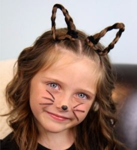 Crazy hairstyles for girls cat
