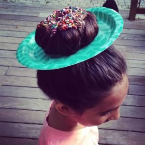 Crazy hairstyles for girls donut