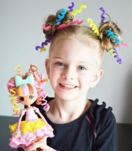 Crazy hairstyles for girls with pipe cleaners