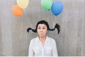 Crazy hairstyles for long hair balloons